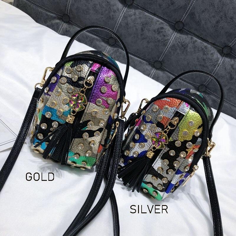 Маленькая цветная сумка-мессенджер LYKANEFU, мини-сумка-тоут для телефона, женские сумки через плечо с речной панкой, сумки на плечо