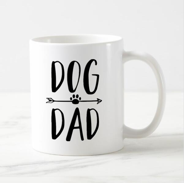 Taza de café perro lindo divertido papá cerveza taza de té novedad perros amante regalos para el padre papá Día del Padre regalo cachorro mascota Drinkware 11oz