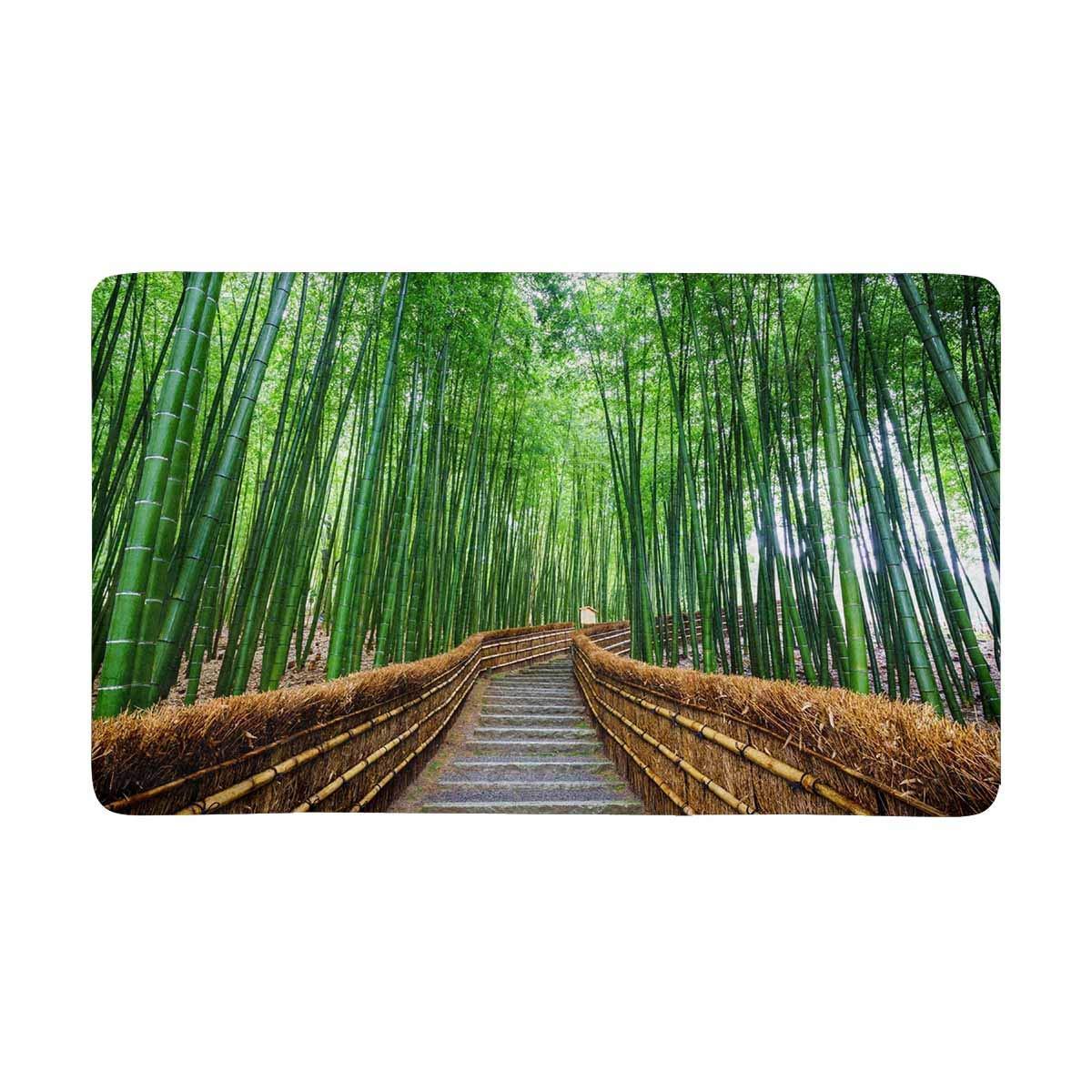 Camino al bosque de bambú, Arashiyama, Tokio, Japón alfombra de entrada interior felpudo rascador de zapatos