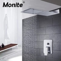 luxury rainfall waterfall shower with two function head shower mixer shower set bathroom faucet concealed shower sets