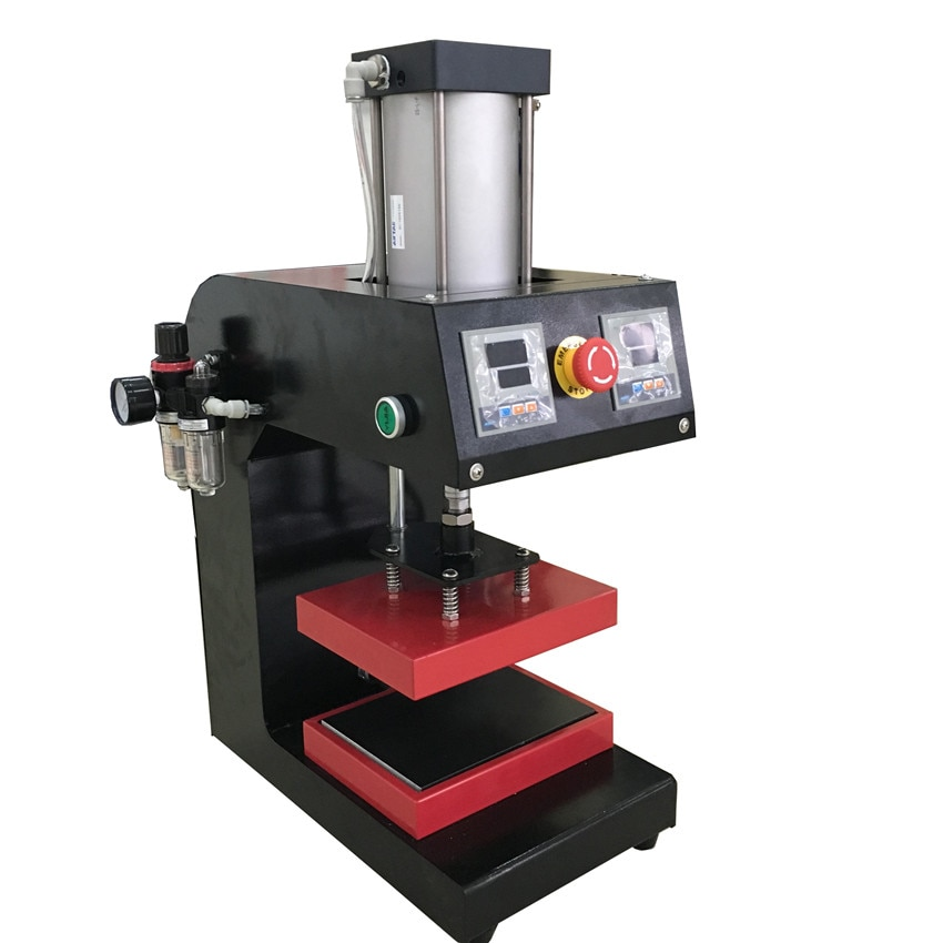 Pequeña máquina de transferencia de calor de prensa de neumáticos de coche de 15*20 cm máquina de transferencia de calor plana 110V y 220V