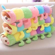 1 pieza 70 cm gigante colorido oruga de peluche de juguete Super Linda muñeca de peluche niños bebé juguete largo almohada para dormir regalo para la novia