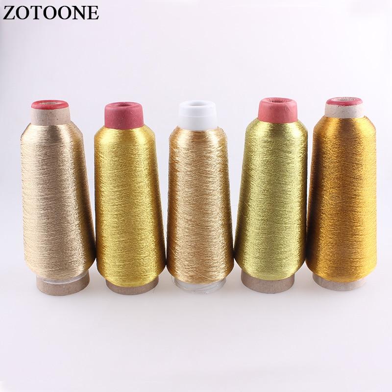 ZOTOONE 3500 м/рулон DMC нить Металлическая Вышивка золотые нити для шитья устройство для поделок DIY швейная ткань аксессуары для одежды
