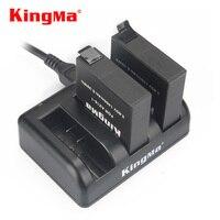 Оригинальный аккумулятор KingMa Xiaomi Yi 4K 4k + 4K Lite, 1000 мАч, 2 аккумулятора + зарядное устройство для спорта, аксессуары для экшн-камеры XiaoYi 4K 2