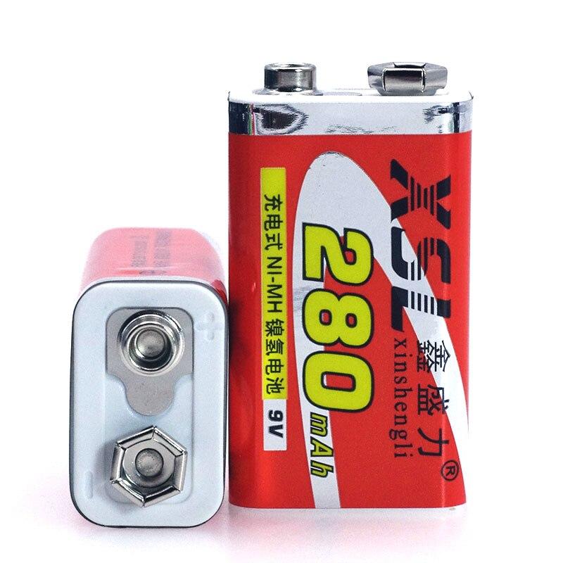 Nieuwe 9 v 6F22 280 mah Ni-Mh Oplaadbare batterij voor Multimeter Microfoon Speelgoed Afstandsbediening KTV Instrument gebruik
