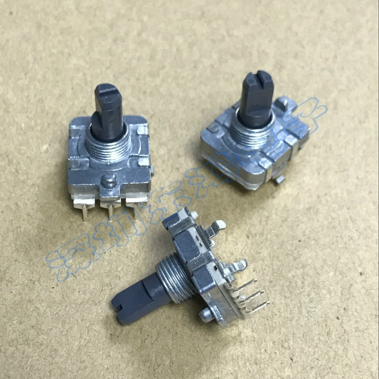 2 PÇS/LOTE Alps alpes EC16 codificador 12 posicionamento 12 interruptor de pulso digital de pulso comprimento do eixo 15 MM