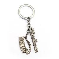 bloodborne keychain ps4 games saw pendant metal key ring men car women bag key chain chaveiro game jewelry