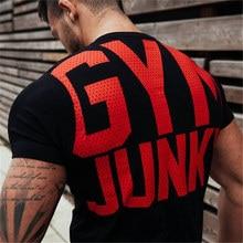 GYM Shirt Sport T Hemd Männer Rashgard Dry Fit Laufen T-shirt Männer Fitness T-shirt Sport Tops Elastische Sport Basketball T-shirt