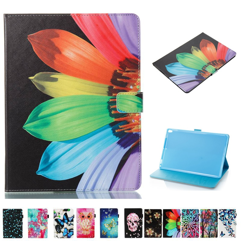 Funda para tableta de cuero pintado inteligente 3D A la moda funda para Samsung Galaxy Tab A 10,1 2016 T580 T585 T580N + película + pluma