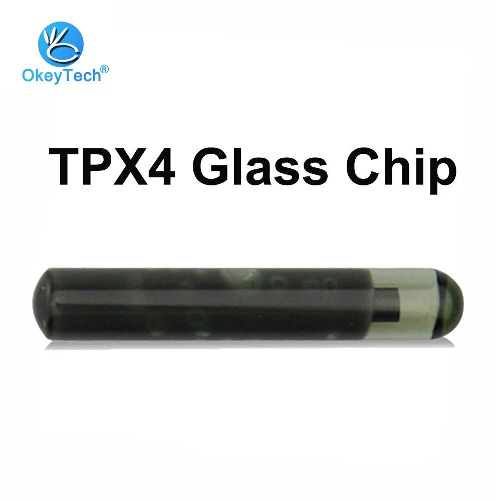 Transpondedor de vidrio OkeyTech TPX4, Chip en blanco para JMA TPX4 Clone ID46, puede reemplazar TPX3, copia de llave de coche, clonador, Chip, envío gratis