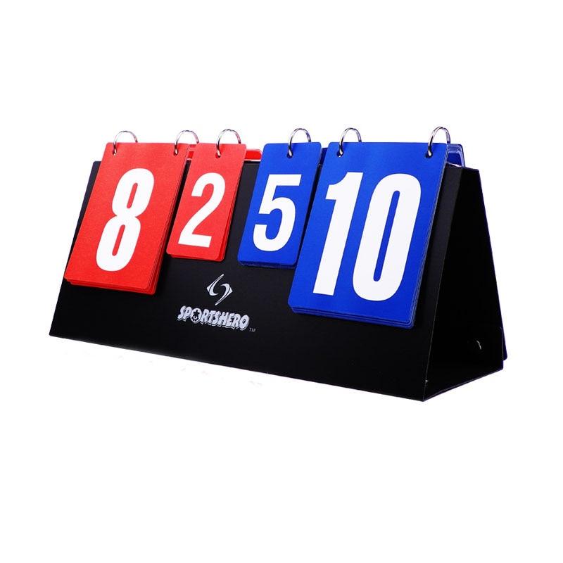 Портативный Баскетбол cчетное табло 4 цифры спортивные табло для волейбола настольным теннисом гандбол бадминтон подсчета очков оптовая пр...