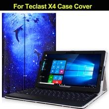 Funda moderna de PU para Tablet PC Teclast X4 de 11,6 pulgadas para Teclast X4 Win10, funda protectora de pantalla dedicada gratis