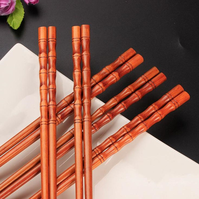 Palillos de bambú de madera Natural salud sin laca cera vajilla Hashi Sushi chino F20173903