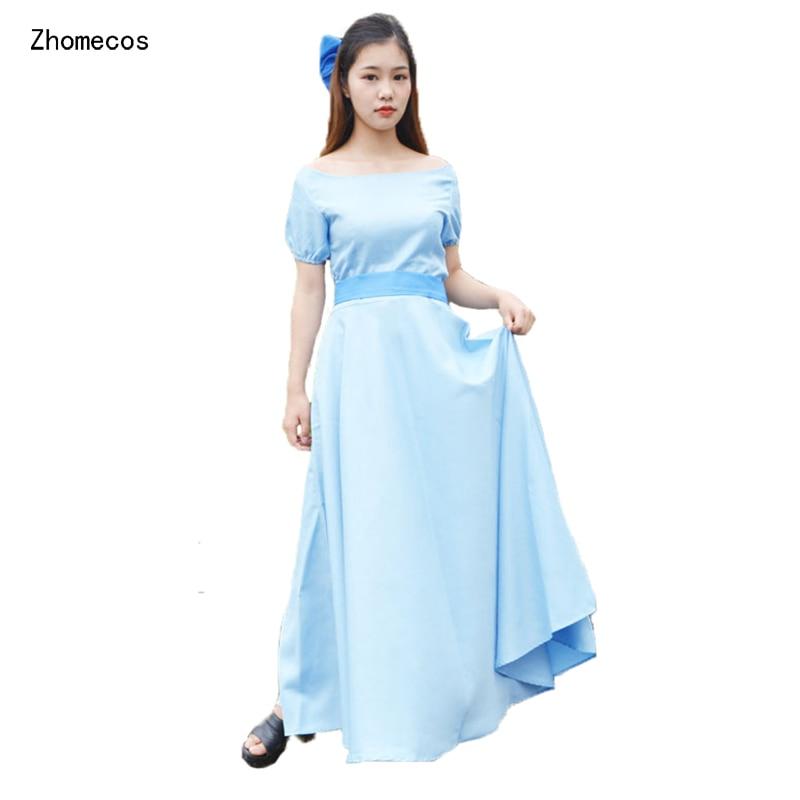 Zhomecos Peter Pan Wendy vestido Cosplay disfraz de princesa Wendy disfraz Cosplay Amine PeterPan disfraces