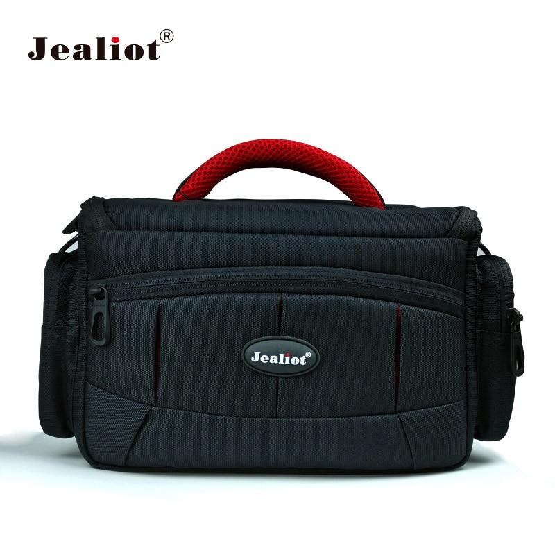 Jealiot DSLR bolsa para bolsa de la Cámara foto moda SLR hombro lente almacenamiento funda para Canon 70d Nikon sony alpha 6000 Camere flash