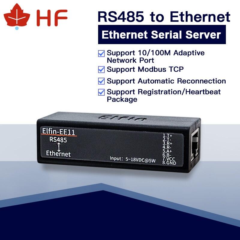 Hf ee11 mini servidor serial rs485 para ethernet modbustcp serial ao conversor dos ethernet rj45 com servidor serial incorporado da web dtu