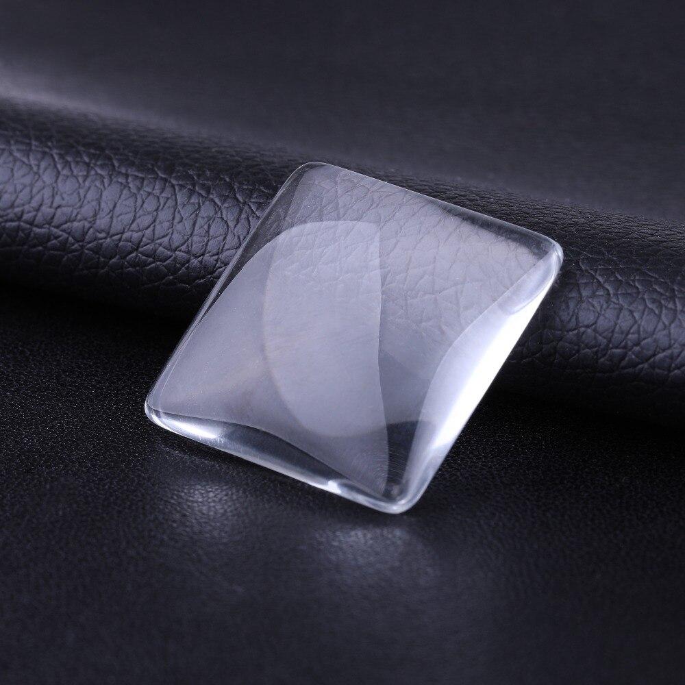JUYA 30mm 25mm ręcznie placu przejrzyste przezroczyste szkło Cabochon tkane biżuteria akcesoria rzemiosło dostaw do tworzenia naszyjnik