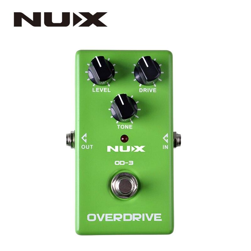NUX OD-3 Overdrive Pedal de efecto guitarra eléctrica Ture Bypass verde de alta calidad Pedal de efectos de guitarra