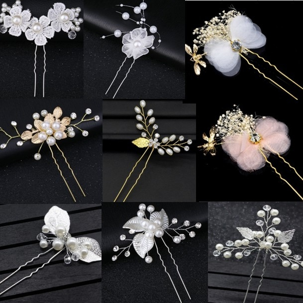 Fashion Pearl Crystal Wedding Hair Jewelry Charm Floral Bridal Hair Combs Women Party Hairpins Wedding Hair Accessories