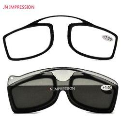 JN IMPRESSION титановый сплав магнитное стекло для чтения es чехол зажим для носа Круглое стекло es диоптрия по рецепту очки для чтения