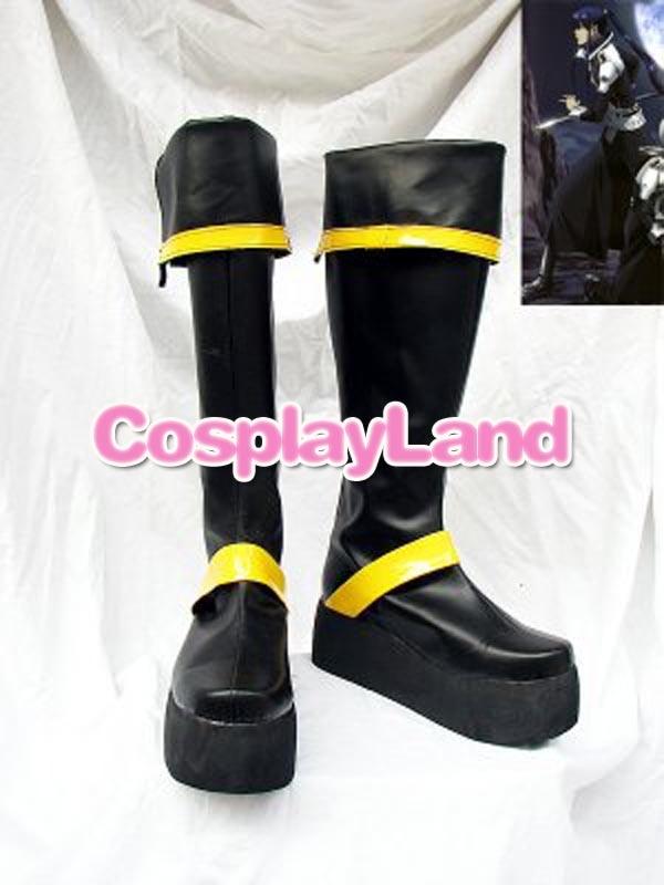 D Gray-Man يو كاندا أحذية طويلة تأثيري أحذية أنيمي حفلة تأثيري تظهر الأحذية مخصص للكبار حذاء رجالي