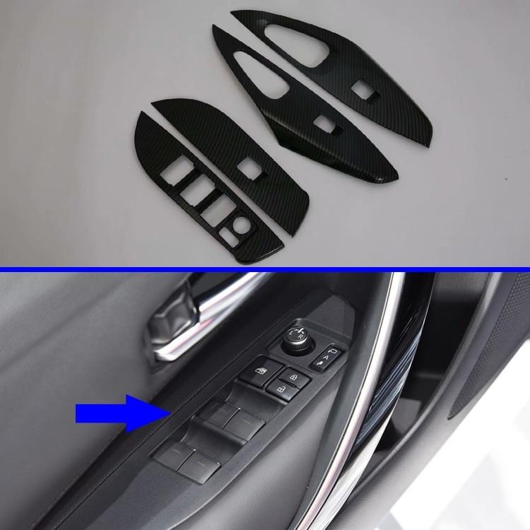 Para Toyota Corolla Sedan E210 Prestige Altis 2019 2020 cubierta de reposabrazos de puerta interruptor Panel embellecedor moldura guarnición
