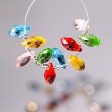 Vidrio de cristal perlas de gota 6x1 2/8x1 3/10x2 0/12x25MM AAA superior Flated cristales de lágrima encantos de cristal de Murano en al por mayor a granel