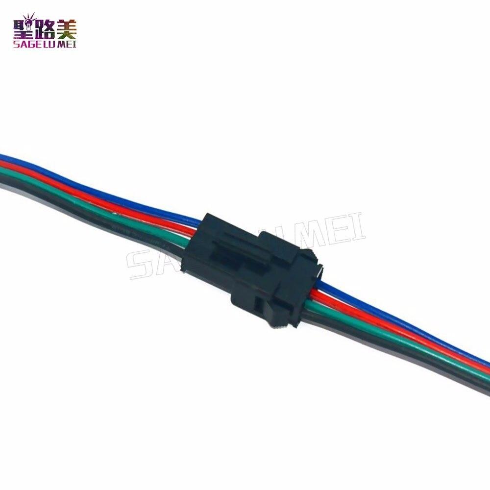 10 пар, 20 пар, 50 пар, 4-контактный разъем JST SM, 4-контактный разъем SM для 5050/3528, 2801, 8806, RGB, светодиодная лента