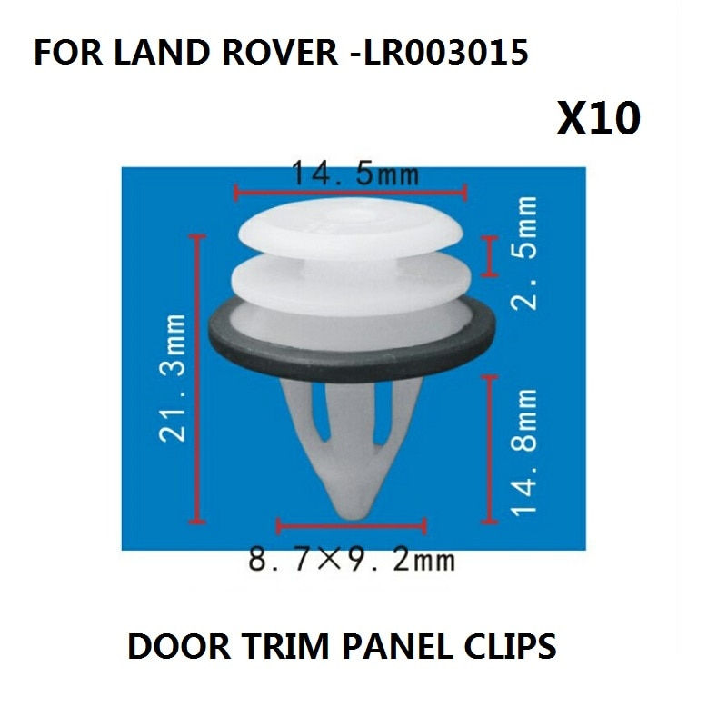 x10 Pieces FOR LAND ROVER FREELANDER 2 DOOR CLIPS CARD TRIM PANEL INTERIOR NEW,LR003015