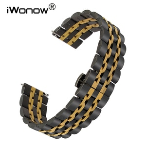 Quick Release Stainless Steel Watchband 22mm for Asus ZenWatch 1 2 Men WI500Q WI501Q LG G R Watch Urbane W150 Wrist Band Strap