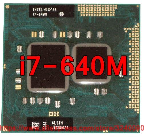 Original lntel Core i7 640M 2.8GHz i7-640M Dual-Core Processor PGA988 SLBTN Mobile CPU Laptop processor free shipping