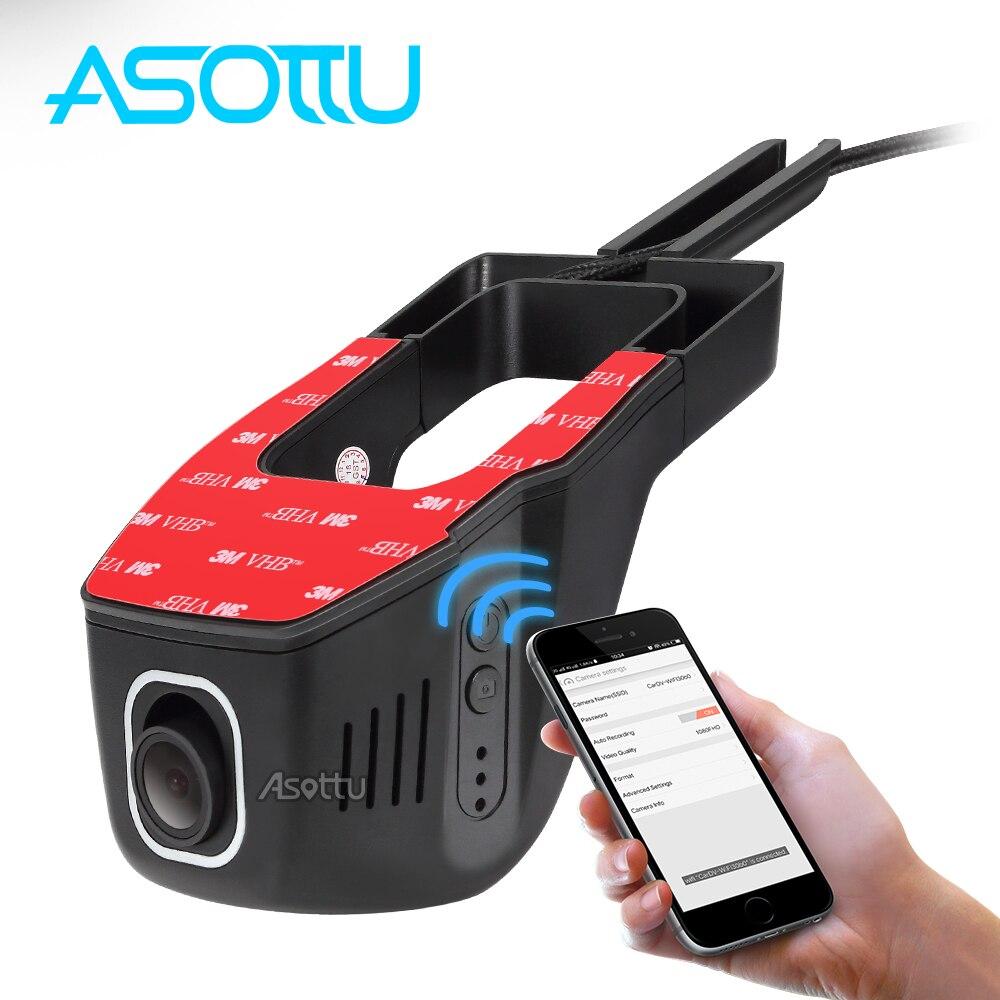 Asottu car wifi dvr  1920*1080P  Universal Installation as original Car Camera 170 Degree Support APP Control  car dvr video