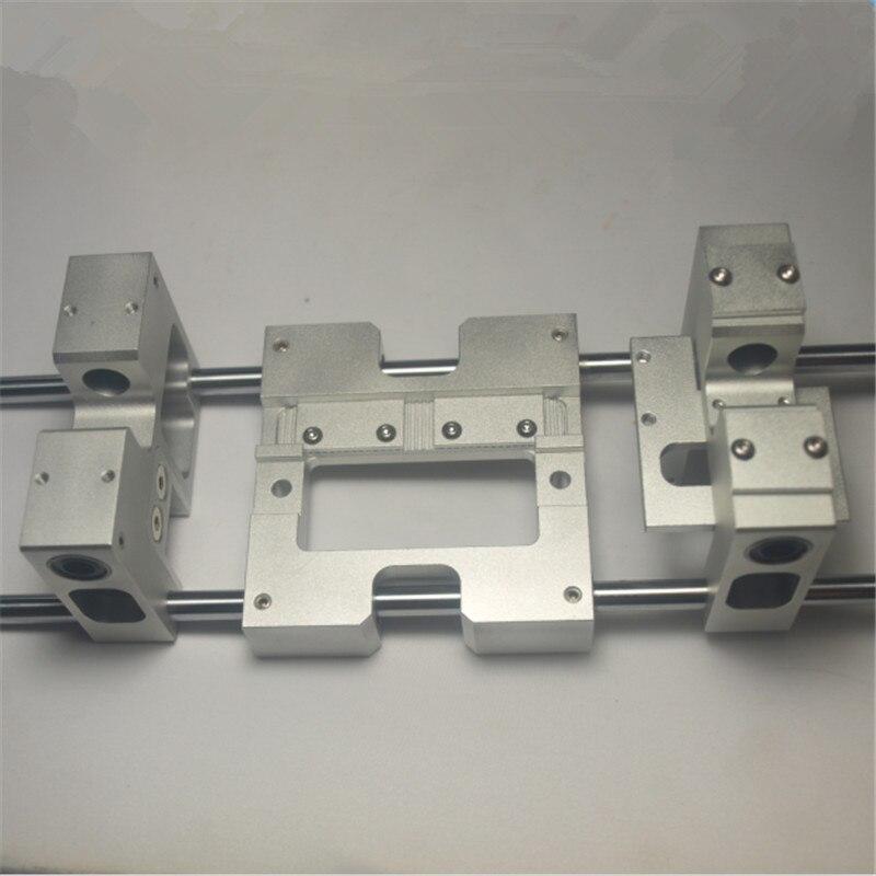قطع غيار طابعة ثلاثية الأبعاد LM10UU نوع الألومنيوم X محور معدني الطارد النقل + Y محور النقل عدة ل cسي النسخ المتماثل فلاشفورج ترقية