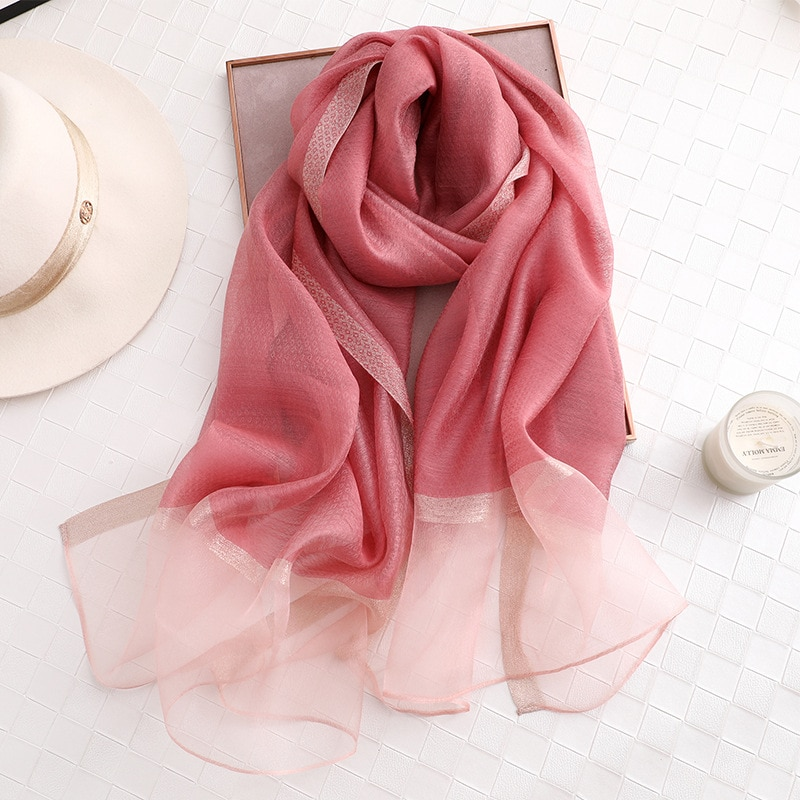 Hot 2019 Luxury Brand New Womens Scarf Fashion Lady Solid Silk Scarves Print Shawls and Wraps Pashmina Foulard Bandana Hijab