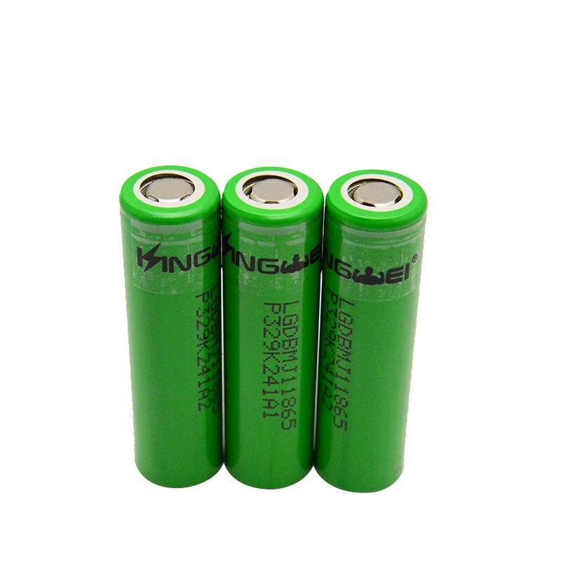 RU KingWei alta capacidad 18650 3500mAh Li-ion batería para LG MJ1 3,7 v baterías de litio recargables