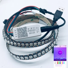 USB 5V tira de luz RGB Led 2812b 144LED/m SP110E controlador Bluetooth TV fondo color de sueño Flash decoración de rayas