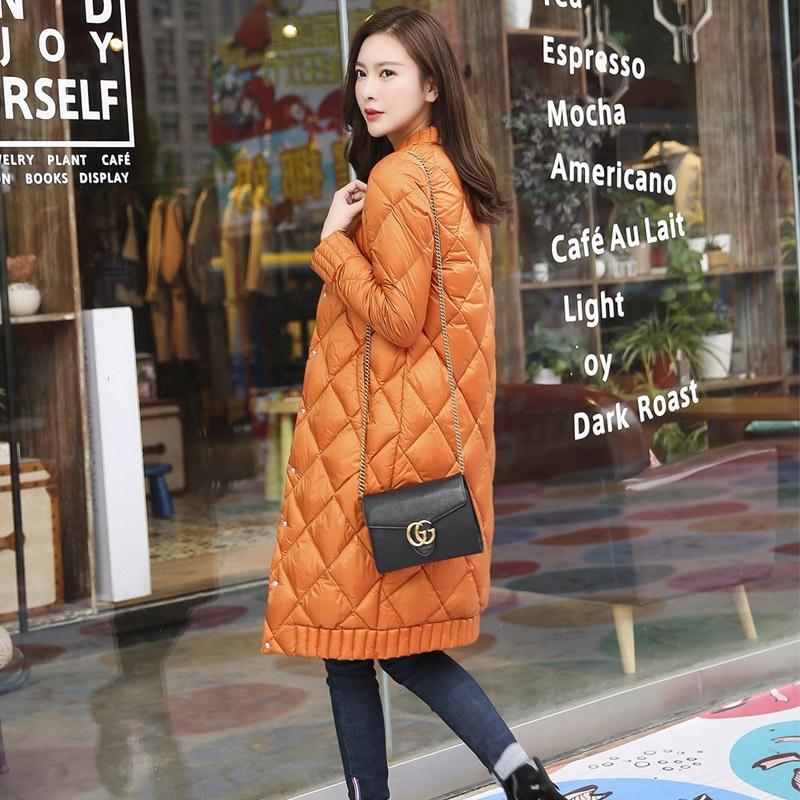 Qualidade superior primavera inverno mulheres ultra leve para baixo longo jaqueta casual feminino portátil casaco de penas de pato jaquetas leve parkas