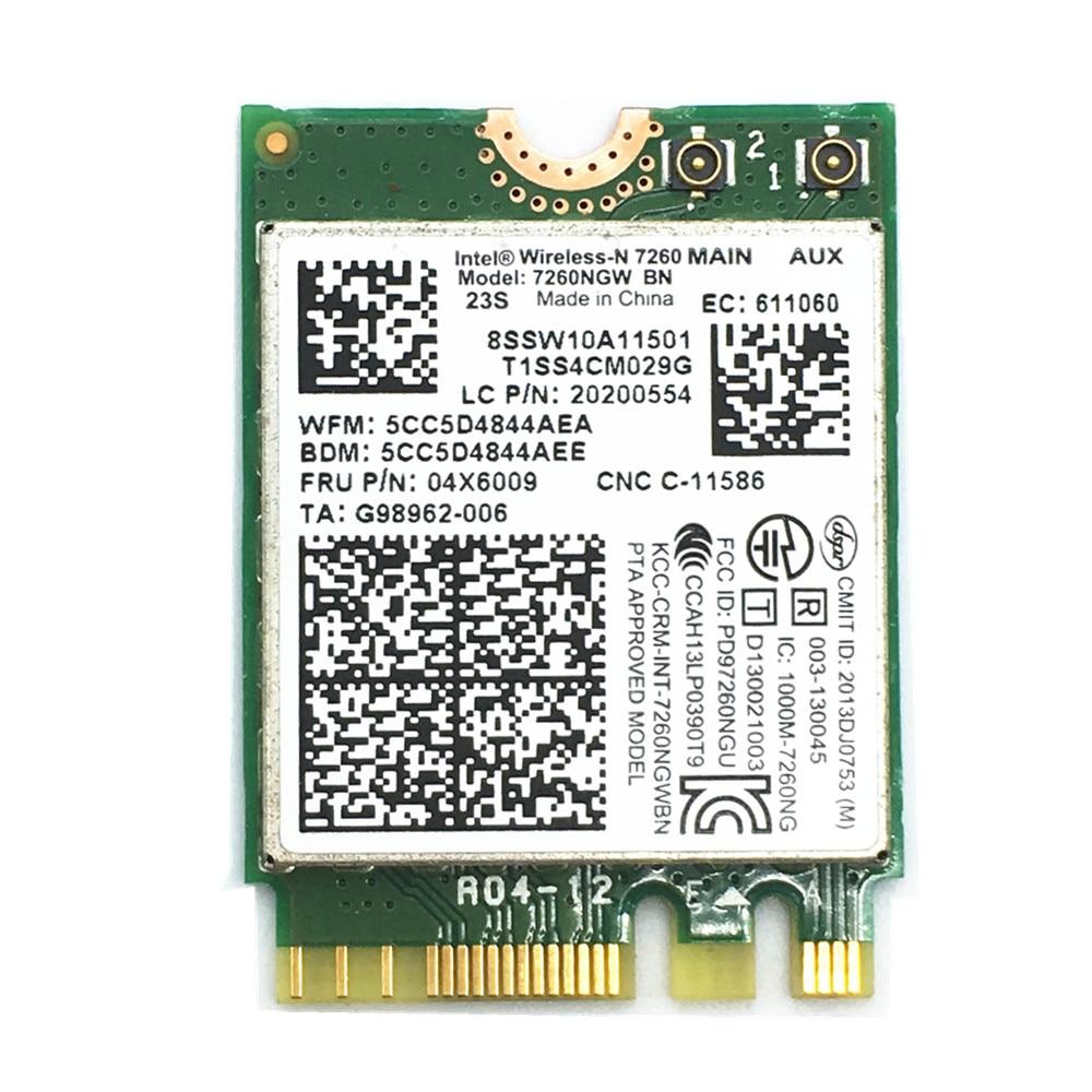 Intel Wireless-N 7260 7260NGW BN 300M Wifi NGFF Card FRU 04X6009/04X6006 T440 T440p W540 L440 X240 X240s