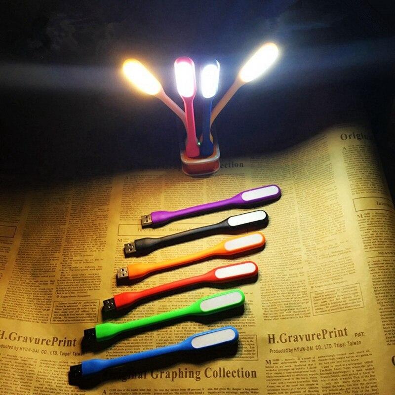 5V 1,2 W LED lámpara de noche 6 Chips LED 360 grados Flexible pequeña lámpara de mesa portátil USB Mini luces de escritorio para ordenador portátil