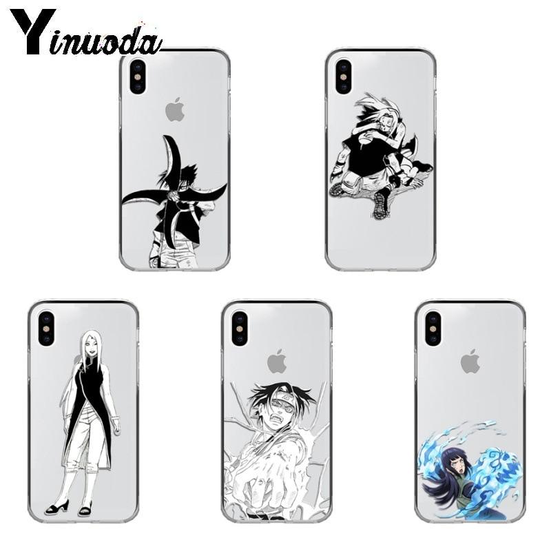Yinuoda Naruto Sasuke Sakura Anime Comic funda de teléfono para iPhone 6 iPhone 6S 6 más 7 7plus 8 8plus X Xs X Xr XsMax 5 5s 5c cubierta