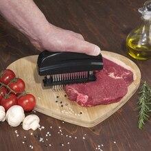 48  Beaf Steak Mallet Meat Tenderizer Hammer Pounder Cooking Tools Blades Needle Meat Tenderizer Stainless Steel Knife Meat