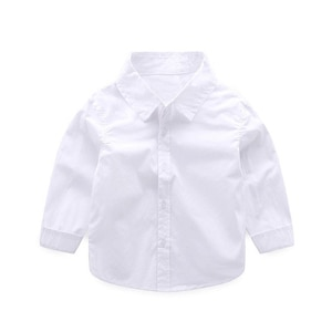 Long Sleeve White Baby Shirts Cotton Shirt Teenager Spring Clothes Classic Tops School Student White shirts For Boy promotion