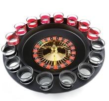 1 Set russe coup de chance jeux de fête Roulette jeu à boire avec 16 verre Spin roue jeu de société pour adulte fête décoration cadeaux