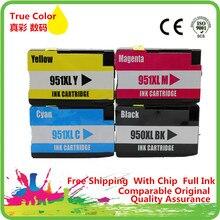 Substituição de Cartuchos de tinta Para 950XL 951XL HP950XL HP951XL 950 951XL Officejet Pro 251dw 8100e 8600 8610 8615 8620 8630