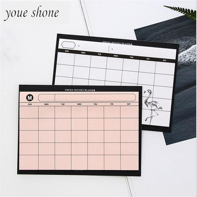 1 шт. = 30 листов простой еженедельник Настольный график месяц план на разрыв в Тетрадь эффективность работы реферат плана