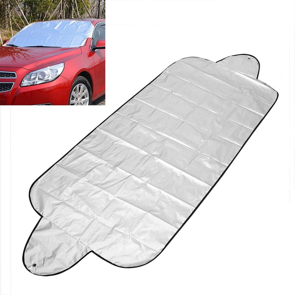 150*70cm carro pára-brisas capa de sol auto anti neve geada gelo escudo carro sombra protetor poeira universal