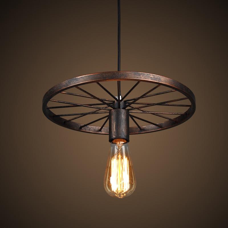 Luzes pingente estilo Americano lâmpada do vintage lustre bulbo Edision suspensão luz para sala De Jantar pingente lâmpadas