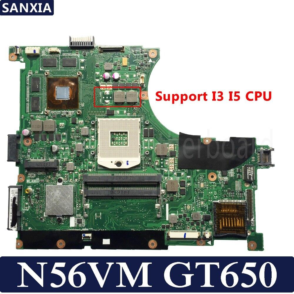 KEFU N56VM материнская плата для ноутбука ASUS N56VM N56VB N56VZ N56VJ N56V протестированная оригинальная материнская плата GT650M поддержка I3 I5 CPU