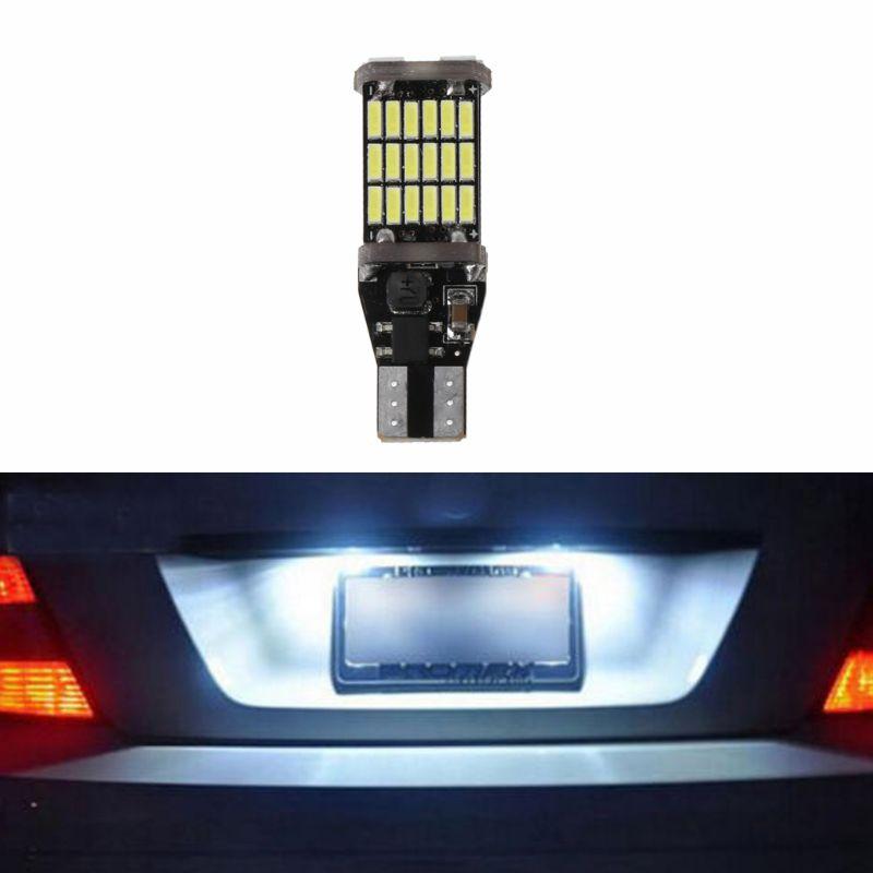 12V coche 45-SMD 4014 LED luz de retroceso de marcha atrás Super brillante ancho lámpara blanca
