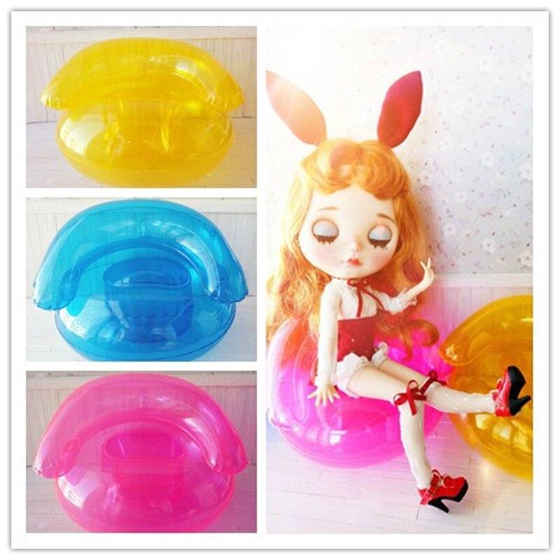 3 unids/lote 1/6 accesorios de sofá inflable para agua de muñeca para Blyth Pullip Barbies Monster Doll Accesorios